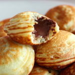 Mini Nutella-Stuffed Pancakes